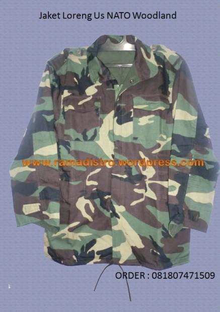 Jaket Loreng Us NATO Woodland | Jual Aneka barang Perlengkapan Militer-TNI-POLRI-SATPAM-AIR SOFT