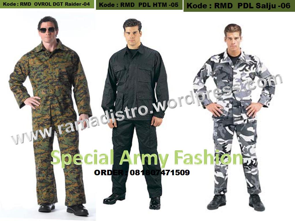 Baju seragam pdl loreng militer,army, airsoftgun, outbound dan militer