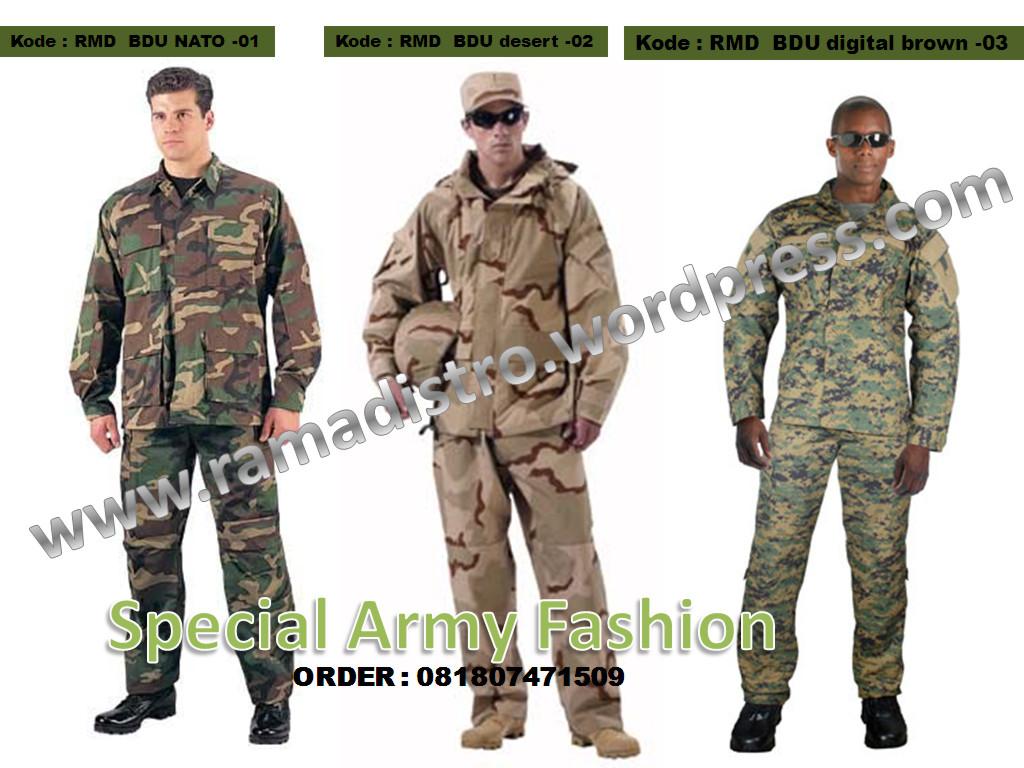 Jual aneka baju seragam pdl loreng militer,army, airsoftgun, outbound