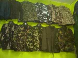 Aneka jaket loreng army murah