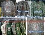 Aneka Jaket Body Press ABG BDU ARMY