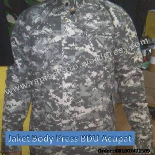 Jaket Body Press BDU Digital Acu