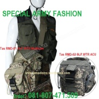 Tas Slempang Import Army outdoor Vpack Loreng Multicam dan Digital Acupat