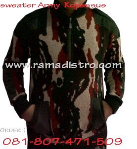 sweater loreng kopassus army ramadistro