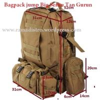 Jual Tas Bagpack Army-Army bag jump Big Serbu double jumbo berbagai corak tan gurun,acu,marpat,camo,black,od green,multicam smua Produk Ori Import