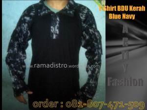 T-shirt Bdu kerah Army-Blue-Navy-ramadistro-murah-fashion-bandung