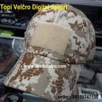 Topi velcro digital desert