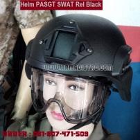 helm swat rel hitam
